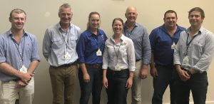 SPA's Melissa Neal with speakers and organisers of the YBPF Sheep Session.